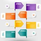 Modernes infographics Element Stockbild