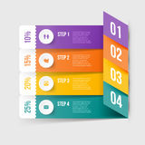 Modernes infographics Element Stockfotos