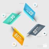 Modernes infographics Element Stockfoto