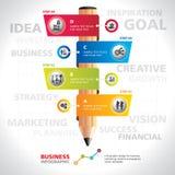 Modernes Informationsgrafikdesign der Schablone Lizenzfreies Stockfoto