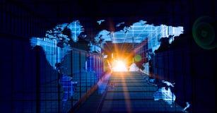 Modernes internationales Geschäft stockbild