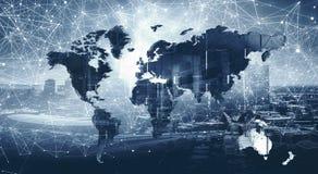 Modernes internationales Geschäft stockbilder
