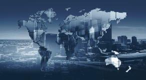 Modernes internationales Geschäft lizenzfreie stockbilder