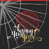 Modernes kalligraphisches Design Chinesisches neues Jahr Beschriftungskalligraphiesatz Lizenzfreie Stockfotografie