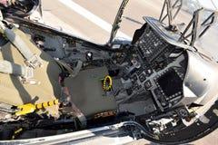 Modernes Kampfflugzeugcockpit Stockbild