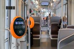Modernes Kartenvalidator des öffentlichen Transports Lizenzfreie Stockfotografie