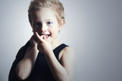 Modernes kleines Kind boy.fashion children.smiling Stockbild