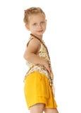 Modernes kleines Mädchen Stockfotos