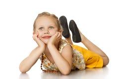 Modernes kleines Mädchen Lizenzfreies Stockfoto