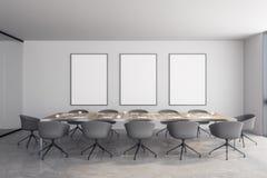 Modernes Konferenzzimmer mit Anschlagtafel stock abbildung