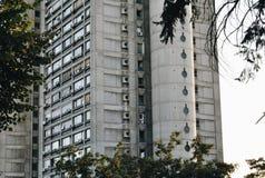 Modernes konkretes Gebäude Stockfoto