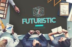 modernes Konzept der dreidimensionalen futuristischen Anzeigen-3D Stockbild