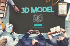 modernes Konzept der dreidimensionalen futuristischen Anzeigen-3D Lizenzfreies Stockbild