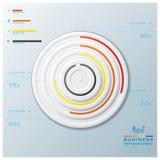 Modernes Kreis-Geschäft Infographic Lizenzfreie Stockfotos