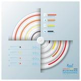 Modernes Kreis-Geschäft Infographic Stockbild