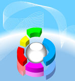 Modernes Kreisdiagramm Stockbild