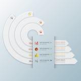Modernes Kurven-Kreis-Geschäft Infographic Lizenzfreies Stockbild