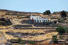 Modernes Landhaus auf der Insel von Patmos Stockfoto