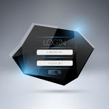 Modernes LOGON-Form ui Element. Stockfoto