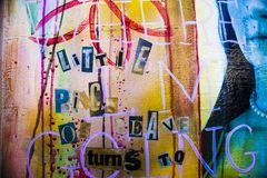 Modernes Malereifragment des abstrakten Acrylhintergrundes Buntes r Lizenzfreies Stockbild