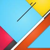 Modernes materielles Design des Hintergrundes geometrisch Abstraktes kreatives Konzept Designvektor Lizenzfreie Stockfotos
