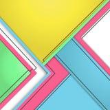Modernes materielles Design des Hintergrundes Geometrische Form mit schwarzem Lin Stockfoto