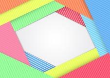 Modernes materielles Design des Hintergrundes Geometrisches Formular Abstrakter kreativer Konzeptdesignvektor Lizenzfreies Stockfoto