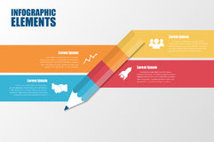 Modernes minimales buntes infographics Stockfotos