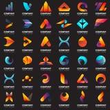Modernes minimales Vektor-Logo für Fahne Lizenzfreie Stockfotografie