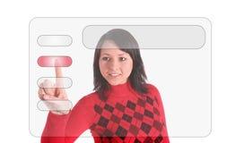 Modernes mit Berührungseingabe Bildschirm lizenzfreies stockbild