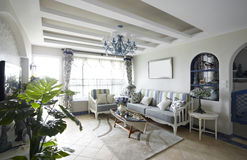 Modernes Mittelmeer-Art Haus Stockbild