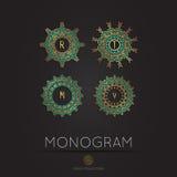 Modernes Monogramm, Logovektorschablone Lizenzfreie Stockfotos