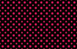 Modernes Muster mit zwei rosa Tupfen der verschiedenen Größen gegen einen schwarzen Hintergrund stock abbildung