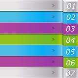 Modernes Muster von mehrfarbigen Streifen Stockbild