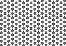 Modernes nahtloses Geometriemusterhexagon, geometrischer Hintergrund der Schwarzweiss-Bienenwabenzusammenfassung stock abbildung