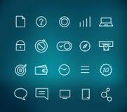 Modernes Netz und bewegliche Anwendungspiktogramme Stockbild