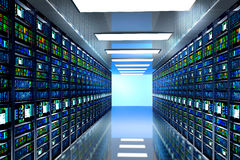Modernes Netz- und Telekommunikationstechnikcomputerkonzept Lizenzfreie Stockfotografie