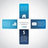 Modernes Papier Infographic stock abbildung