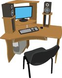Modernes Personal-Computer auf einer Tabelle lizenzfreie abbildung