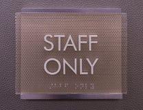 Modernes Personal-nur Zeichen Lizenzfreies Stockbild