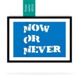 Modernes Plakat auf einem blauen Hintergrund Lizenzfreie Stockbilder