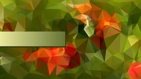 Modernes Poligonal-Design in der roten und grünen Farbe Stockfoto