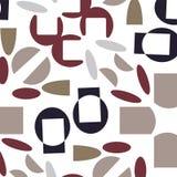 Modernes Rotes und des Indigos seameless Muster Beige der Zusammenfassung, vektor abbildung
