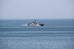 Modernes russisches Kriegsschiff Stockbild