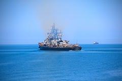 Modernes russisches Kriegsschiff Stockfotografie