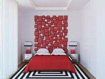 Modernes Schlafzimmer. Stockfoto
