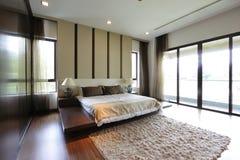 Modernes Schlafzimmer Stockfotografie