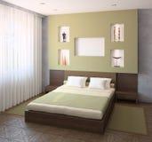 Modernes Schlafzimmer. Stockfotografie