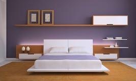 Modernes Schlafzimmer. Lizenzfreie Stockfotos