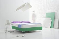 Modernes Schlafzimmer Lizenzfreies Stockfoto